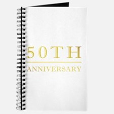 50th Anniversary Gold Shadowed Journal