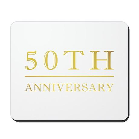 50th Anniversary Gold Shadowed Mousepad
