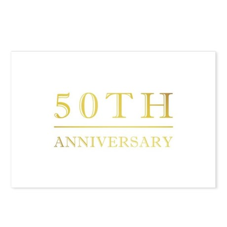 50th Anniversary Gold Shadowed Postcards (Package