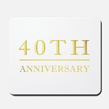 40th Anniversary Gold Shadowed Mousepad