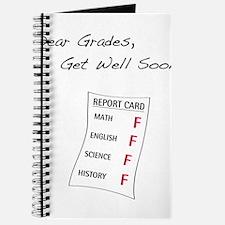Dear Grades, Get Well Soon Journal