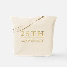 25th Anniversary Gold Shadowed Tote Bag