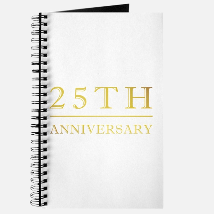 25th Anniversary Gold Shadowed Journal
