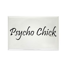 Psycho Chick Rectangle Magnet