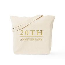 20th Anniversary Gold Shadowed Tote Bag