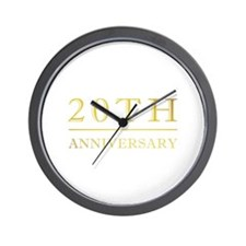 20th Anniversary Gold Shadowed Wall Clock