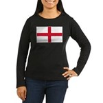 English Flag Women's Long Sleeve Dark T-Shirt