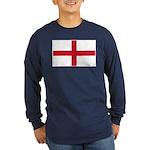 English Flag Long Sleeve Dark T-Shirt