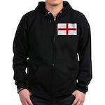 English Flag Zip Hoodie (dark)