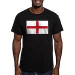 English Flag Men's Fitted T-Shirt (dark)