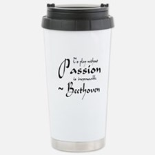 Beethoven Music Passion Quote Travel Mug