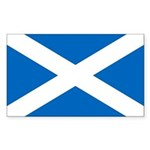 Scottish Flag Sticker (Rectangle)