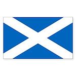 Scottish Flag Sticker (Rectangle 10 pk)