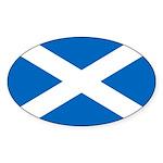 Scottish Flag Sticker (Oval)