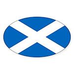 Scottish Flag Sticker (Oval 10 pk)