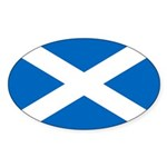 Scottish Flag Sticker (Oval 50 pk)