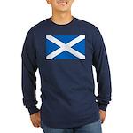 Scottish Flag Long Sleeve Dark T-Shirt