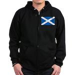 Scottish Flag Zip Hoodie (dark)