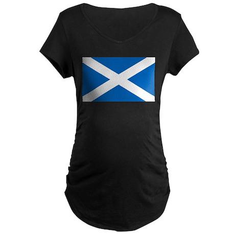 Scottish Flag Maternity Dark T-Shirt