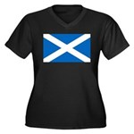 Scottish Flag Women's Plus Size V-Neck Dark T-Shir