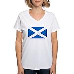 Scottish Flag Women's V-Neck T-Shirt
