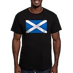 Scottish Flag Men's Fitted T-Shirt (dark)