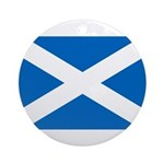 Scottish Flag Ornament (Round)