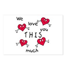 Love This Much<br>Postcards (Pkg of 8)