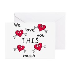Love This Much<br>Greeting Cards (Pk of 10)