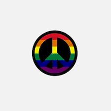 Pride Peace Sign Mini Button