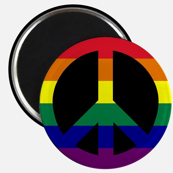Pride Peace Sign Magnet