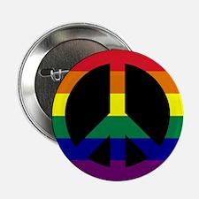 """Pride Peace Sign 2.25"""" Button"""
