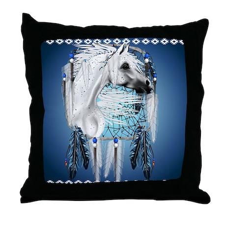 Dreamcatcher_Appaloosa Throw Pillow