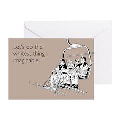 Whitest Thing Greeting Card