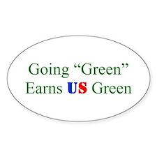 Decal - green earns
