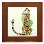 Animal Alphabet Jaguar Framed Tile
