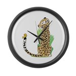 Animal Alphabet Jaguar Large Wall Clock