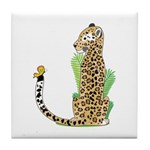 Animal Alphabet Jaguar Tile Coaster