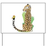 Animal Alphabet Jaguar Yard Sign