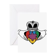 Spectrum Claddagh Greeting Card