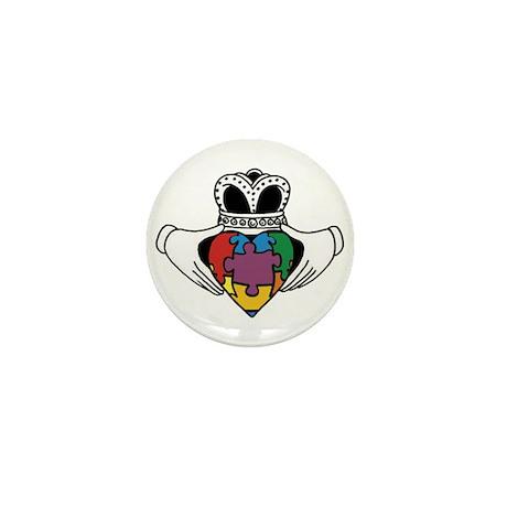 Spectrum Claddagh Mini Button (10 pack)