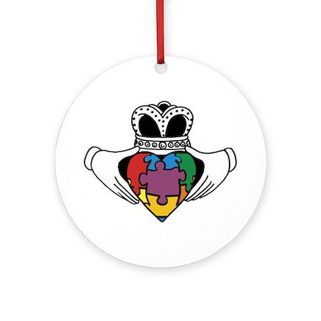 Spectrum Claddagh Ornament (Round)