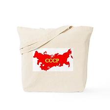 CCCP Soviet Union Map Tote Bag