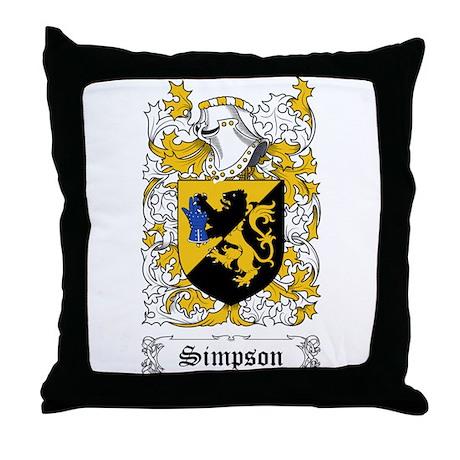 Simpson [English] Throw Pillow