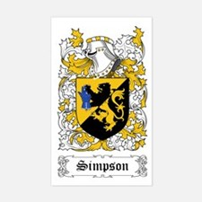Simpson [English] Sticker (Rectangular)