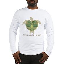 Aloha wau ia Hawai'i (I Love Long Sleeve T-Shirt