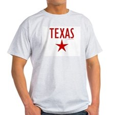 Texas Star - Ash Grey T-Shirt