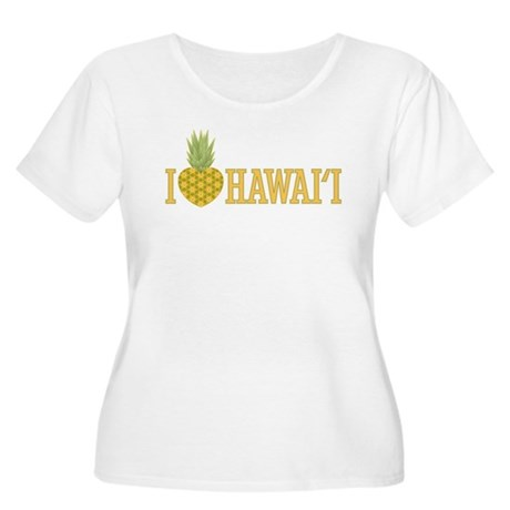 I Love Hawai'i Pineapple Heart Women's Plus Size S