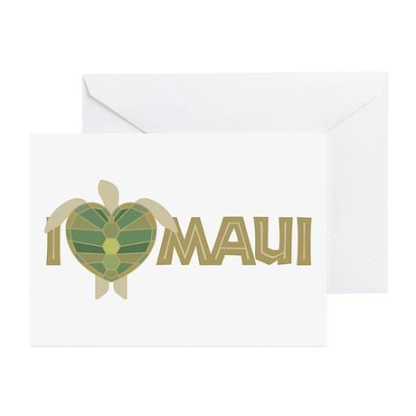 I Love Maui Greeting Cards (Pk of 10)