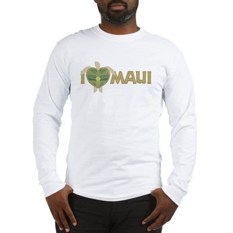 I Love Maui Long Sleeve T-Shirt